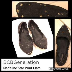 🌟 💫 Madeline Gold Star Print Ballet Flats 💫 🌟